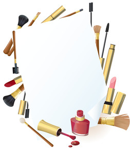 Cosmetics. Vector.