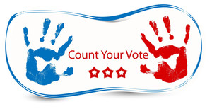 Count Your Voite  Election Day Vector Illustration