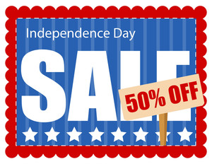 Coupon Sale 4th Of July Vector Illustration