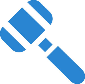 Court Gavel Simplicity Icon