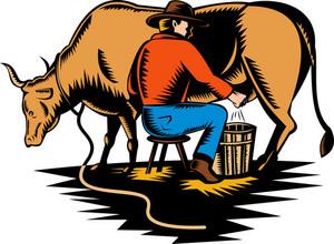 Cow Farmer Milking