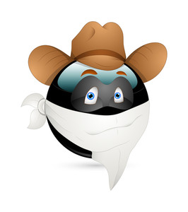 Cowboy Smiley With Hanky Mask