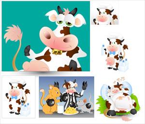 Cows Vectors