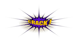 Crack Retro Text Banner Design