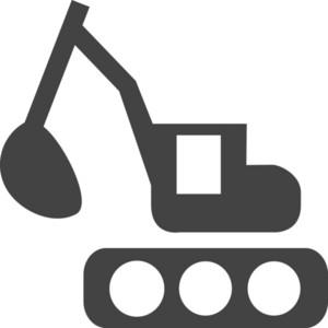 Crane Truck Glyph Icon
