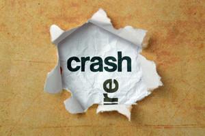 Crash Concept On Paper Hole