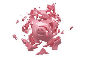 Crashed Piggy Bank