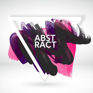 Creative abstract background with colorful paint stroke.