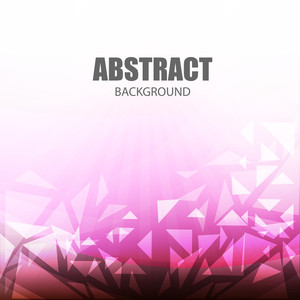 Creative abstract background with glossy triangles.
