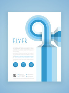 Creative abstract business flyer template or brochure design for corporate sector.