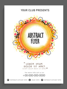 Creative abstract flyer template or banner design for your business.