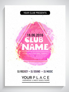 Creative abstract flyer template or banner design on stylish floral decorated background.