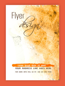 Creative abstract flyer template or banner design with color splash