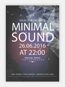 Creative abstract flyer template or banner design with date