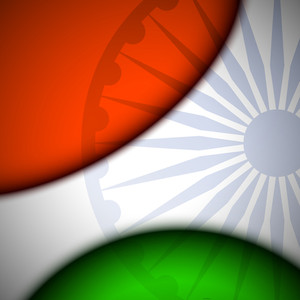 Creative Abstract Indian Flag Background.