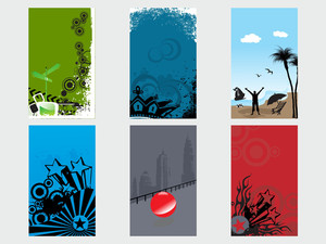 Creative Abstract Vector Banner Set1