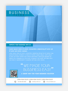 Creative Architecture flyer banner or template presentation in blue and white colors for your business.