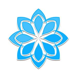 Creative Blue Snowflake