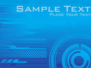 Creative Blue Vector Background