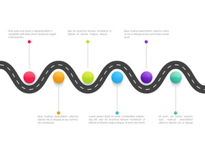 Creative Business infographic elements layout for financial reports presentation.