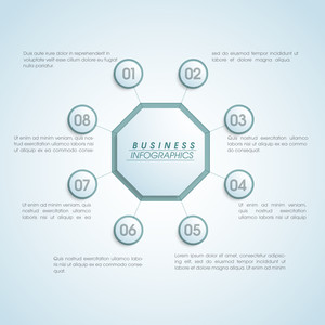 Creative Business infographic elements layout on shiny sky blue background.