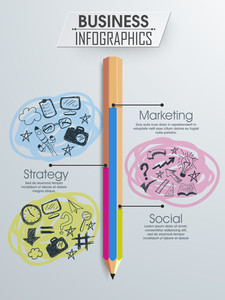 Creative business infographic layout with different elements.