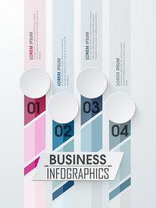 Creative business infographic layout with numbers for your print
