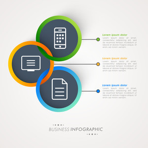 Creative Business infographic template layout on grey background.