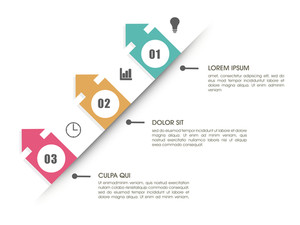 Creative Business infographic template layout on shiny white background.