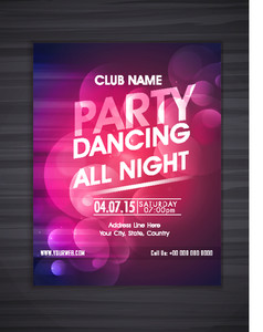 Creative colorful abstract design decorated flyer banner or template for Party celebration.