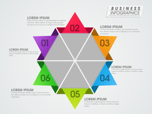Creative colorful business infographic layout.
