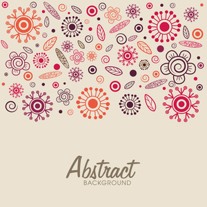 Creative colorful floral design decortad abstract background.