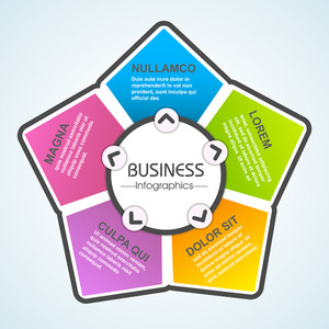 Creative colorful infographic element layout for your Business.