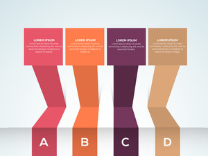 Creative colorful infographic elements for Business purpose.