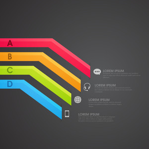 Creative colorful infographic elements for your Business presentation.