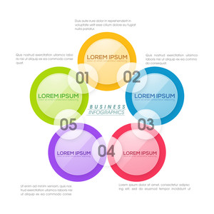 Creative colorful infographic elements on shiny white background for your Business.
