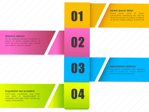 Creative colorful infographic elements with numbers for your Business presentations.
