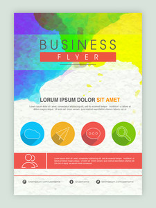 Creative colorful professional template banner or flyer design for business reports.