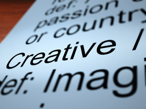 Creative Definition Closeup Showing Original Ideas