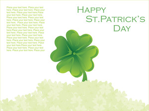 Creative Design Shamrock Background 17 March