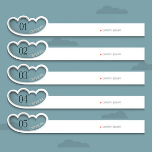 Creative Design Template With Stylized Clouds