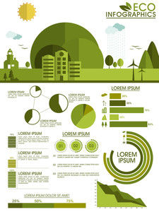 Creative Ecological Infographic Flyer