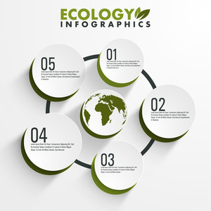 Creative ecology infographic elements for your print