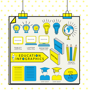 Creative education infographic teamplate include books