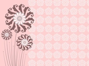 Creative Floral Design Background