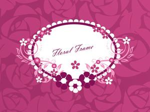 Creative Floral Pattern Frame