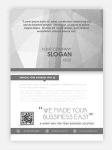 Creative flyer banner or template design for business or corporate sector.