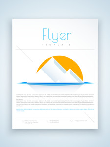 Creative flyer template or brochure with abstract design for your business presentation.