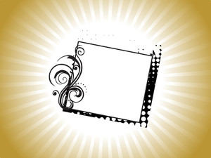 Creative Frame With Flroral Elements