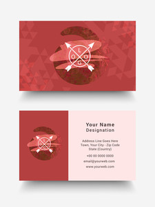 Creative horizontal business card